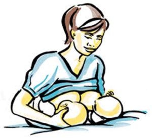 tư thế cho bé bú chuẩn tại nhà